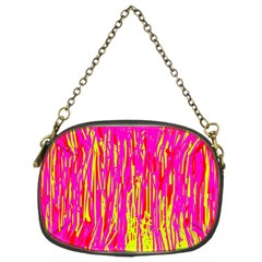 Pink and yellow pattern Chain Purses (Two Sides)