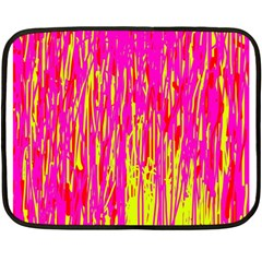 Pink and yellow pattern Double Sided Fleece Blanket (Mini)
