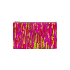 Pink and yellow pattern Cosmetic Bag (Small)
