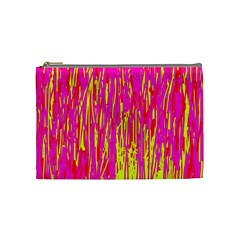 Pink and yellow pattern Cosmetic Bag (Medium)