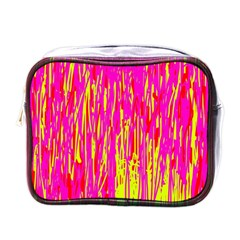 Pink and yellow pattern Mini Toiletries Bags