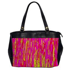 Pink and yellow pattern Office Handbags