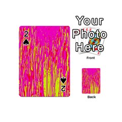 Pink and yellow pattern Playing Cards 54 (Mini)