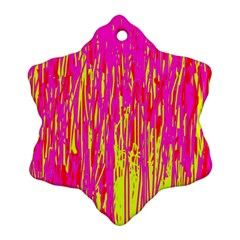 Pink and yellow pattern Ornament (Snowflake)