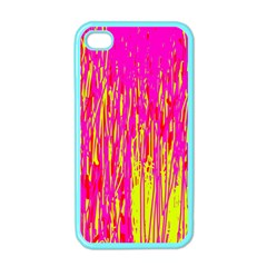 Pink and yellow pattern Apple iPhone 4 Case (Color)