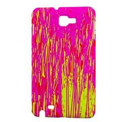 Pink and yellow pattern Samsung Galaxy Note 1 Hardshell Case