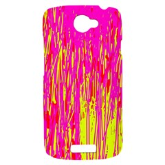 Pink and yellow pattern HTC One S Hardshell Case
