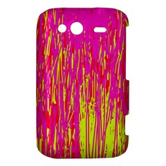 Pink and yellow pattern HTC Wildfire S A510e Hardshell Case