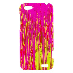 Pink and yellow pattern HTC One V Hardshell Case