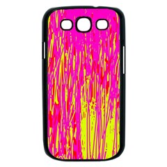 Pink and yellow pattern Samsung Galaxy S III Case (Black)