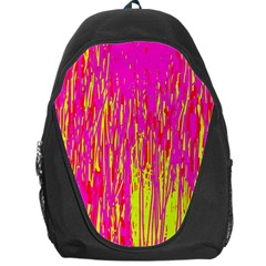 Pink and yellow pattern Backpack Bag