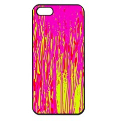 Pink and yellow pattern Apple iPhone 5 Seamless Case (Black)