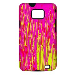 Pink and yellow pattern Samsung Galaxy S II i9100 Hardshell Case (PC+Silicone)