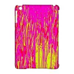 Pink and yellow pattern Apple iPad Mini Hardshell Case (Compatible with Smart Cover)
