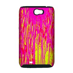Pink and yellow pattern Samsung Galaxy Note 2 Hardshell Case (PC+Silicone)