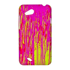 Pink and yellow pattern HTC Desire VC (T328D) Hardshell Case