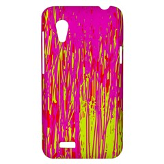 Pink and yellow pattern HTC Desire VT (T328T) Hardshell Case