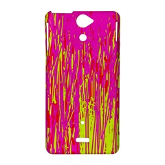 Pink and yellow pattern Sony Xperia V