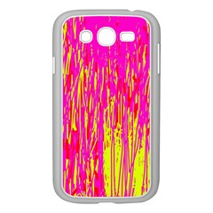 Pink and yellow pattern Samsung Galaxy Grand DUOS I9082 Case (White)
