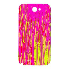 Pink and yellow pattern Samsung Note 2 N7100 Hardshell Back Case
