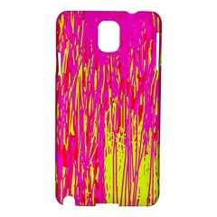 Pink and yellow pattern Samsung Galaxy Note 3 N9005 Hardshell Case