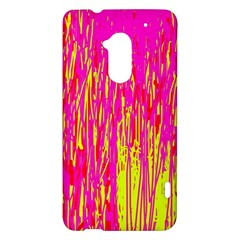 Pink and yellow pattern HTC One Max (T6) Hardshell Case