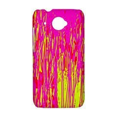 Pink and yellow pattern HTC Desire 601 Hardshell Case