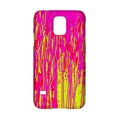 Pink and yellow pattern Samsung Galaxy S5 Hardshell Case