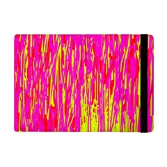 Pink and yellow pattern iPad Mini 2 Flip Cases