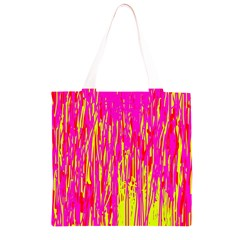 Pink and yellow pattern Grocery Light Tote Bag