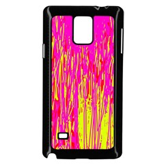 Pink and yellow pattern Samsung Galaxy Note 4 Case (Black)