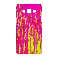 Pink and yellow pattern Samsung Galaxy A5 Hardshell Case