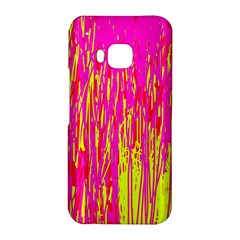 Pink and yellow pattern HTC One M9 Hardshell Case