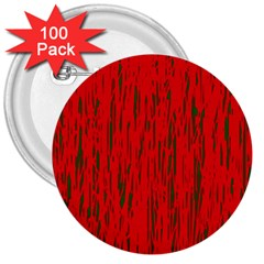 Decorative red pattern 3  Buttons (100 pack)