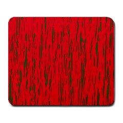 Decorative red pattern Large Mousepads