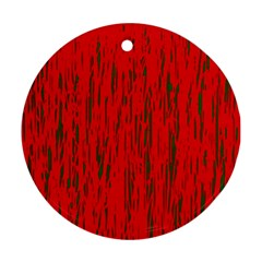 Decorative red pattern Round Ornament (Two Sides)