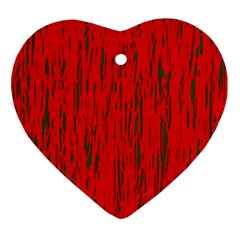 Decorative red pattern Heart Ornament (2 Sides)