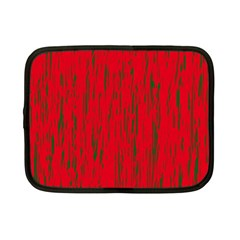 Decorative red pattern Netbook Case (Small)