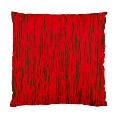 Decorative red pattern Standard Cushion Case (Two Sides)