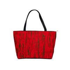 Decorative red pattern Shoulder Handbags