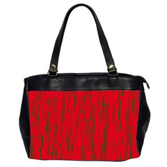 Decorative red pattern Office Handbags (2 Sides)