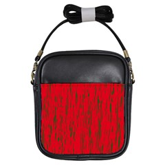 Decorative red pattern Girls Sling Bags