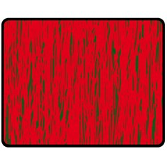 Decorative red pattern Fleece Blanket (Medium)