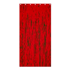 Decorative red pattern Shower Curtain 36  x 72  (Stall)