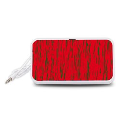 Decorative red pattern Portable Speaker (White)