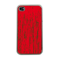 Decorative red pattern Apple iPhone 4 Case (Clear)