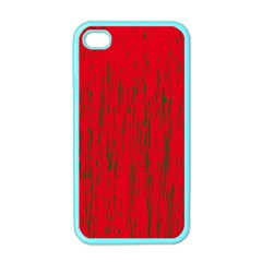 Decorative red pattern Apple iPhone 4 Case (Color)