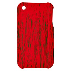 Decorative red pattern Apple iPhone 3G/3GS Hardshell Case