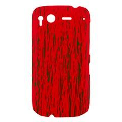 Decorative red pattern HTC Desire S Hardshell Case