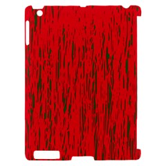 Decorative red pattern Apple iPad 2 Hardshell Case (Compatible with Smart Cover)